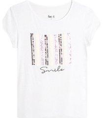 camiseta m/c con lentejuelas