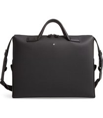men's montblanc extreme 2.0 leather document case - black