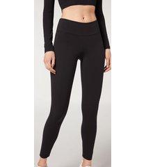 calzedonia ultra light active leggings woman black size s