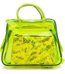 essentiel antwerp varouska sheer shoulder bag - yellow