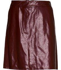 onlbella glazed faux leather skirt otw kort kjol röd only