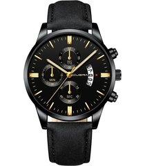 reloj deportivo acero inoxidable hombre cuarzo cuena 1054-a negro