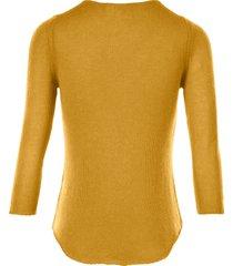 trui van 100% kasjmier, topkwaliteit van peter hahn cashmere geel