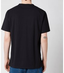 maison kitsuné men's tricolor fox patch classic pocket t-shirt - black - s