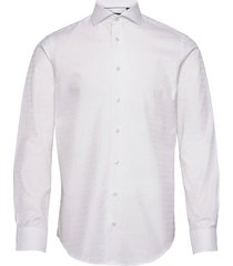 2ply pattern in white overhemd business wit bosweel shirts est. 1937