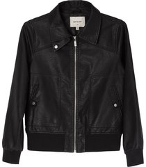 matt & nat arya vegan bomber jacket, black
