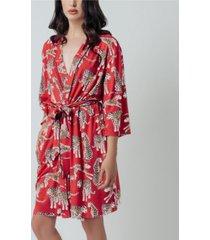 kilo brava women's kimono short robe
