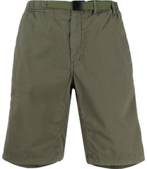 ps paul smith belted cargo shorts - green