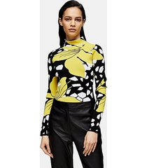 *lily floral print knitted bodysuit by topshop boutique - multi