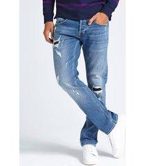 jeansy cygaretki z przetarciami