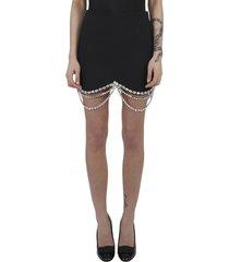 area black crystal skirt