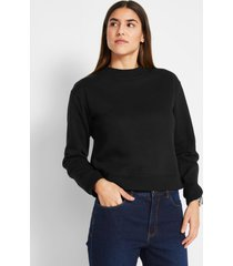 basic sweater met opstaande kraag