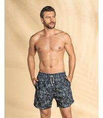 masculino swimwear pantaloneta azul leo 505029