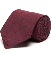 polka dot embroidered silk tie