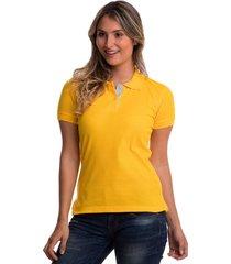 camiseta tipo polo amarillo oro hamer fondo entero