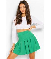 geplooide tennis rok, smaragd