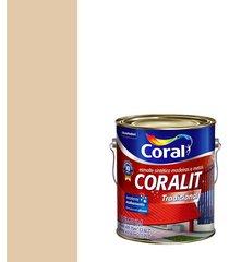 esmalte sintético brilhante coralit areia 3,6l - coral - coral