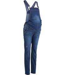 salopette di jeans prémaman straight (blu) - bpc bonprix collection
