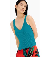 inc international concepts ribbed sweater tank, created for macy's