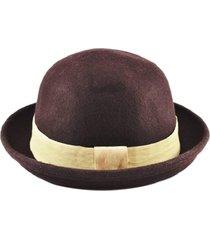 chapéu chapelaria vintage coco chaplin marrom