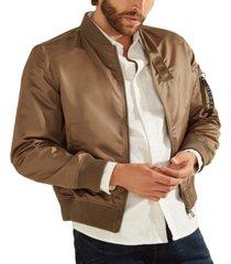 guess men's satin bomber jacket