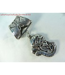 us seller snake and skull head scarf pendant and necklace jewelry scarf