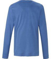 pyjamashirt met lange mouwen en ronde hals van jockey blauw