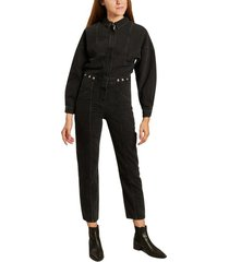 shanty tinted denim long sleeves jumpsuit
