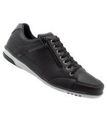 sapatênis masculino casual preto com ziper e elástico 750