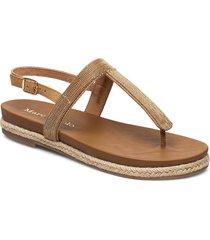sarah 1 shoes summer shoes flat sandals brun marc o'polo footwear