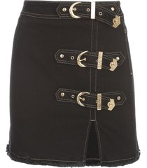versace jeans couture denim skirt w/buckle
