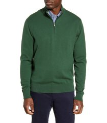 cutter & buck lakemont half zip sweater, size x-large in hunter at nordstrom