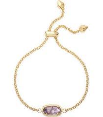kendra scott elaina birthstone bracelet in february/amethyst at nordstrom