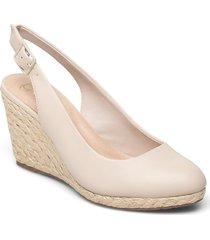 codi sandalette med klack espadrilles creme dune london