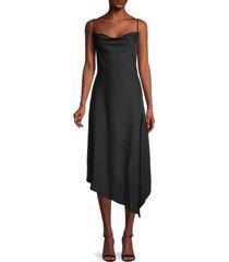 karl lagerfeld paris women's cowlneck crepe slip dress - black - size 0