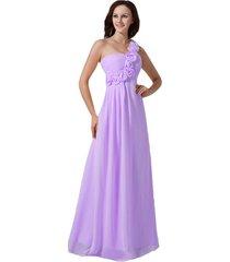 kivary women's floral one shoulder a line long prom evening dresses lilac us 4