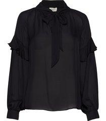 eloise silk blouse blus långärmad svart mayla stockholm