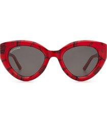 balenciaga balenciaga bb0073s red sunglasses
