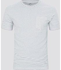 t-shirt med ränder - vit