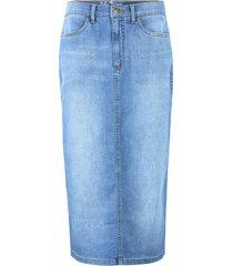 gonna di jeans elasticizzata con poliestere riciclato (blu) - john baner jeanswear