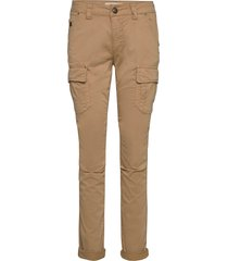 cheryl cargo reunion pant pantalon met rechte pijpen beige mos mosh