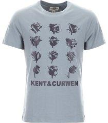 kent & curwen roses print t-shirt