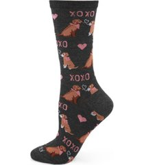women's noodle kiss bamboo crew socks
