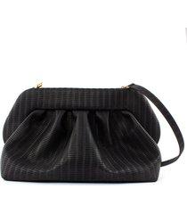 themoirè hera braid black shoulder bag