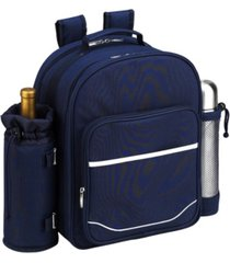 picnic at ascot deluxe 2 person picnic, coffee backpack cooler with wine pouch