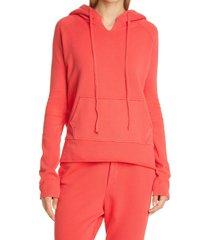 women's nili lotan janie hoodie, size small - red