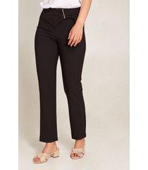 pantalón detalle en cintura negro 6
