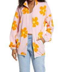 bp. be proud by bp gender inclusive fleece zip jacket, size x-large - pink