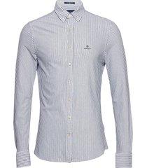 d1. tp pique stripe slim bd overhemd business blauw gant