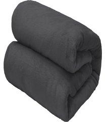 cobertor casal camesa flannel loft cinza escuro - multicolorido - dafiti